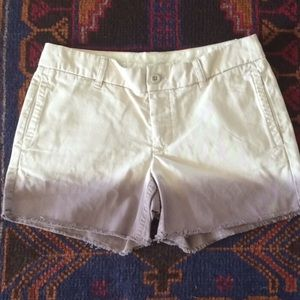 J. Crew Broken-In Boyfriend Ombré khaki shorts